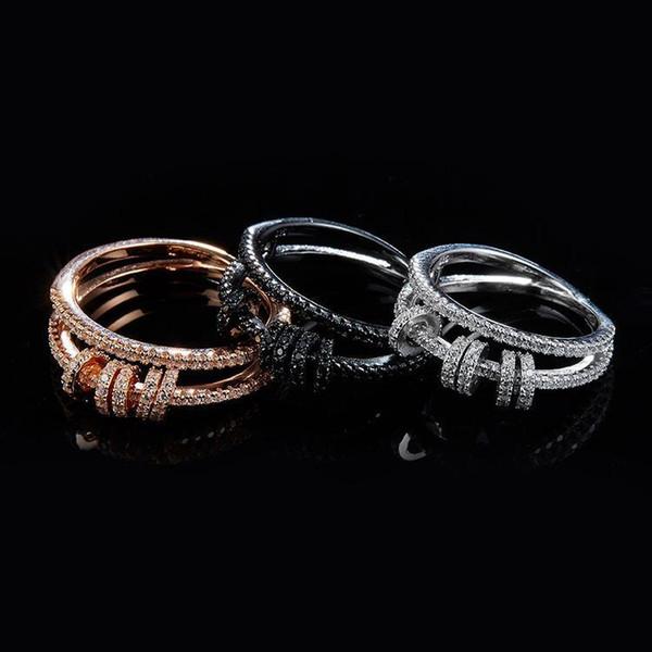encontrar joyas anillo de plata esterlina 925 bodas de amor anillo con incrustaciones CZ moda micro círculo anillo para mujeres