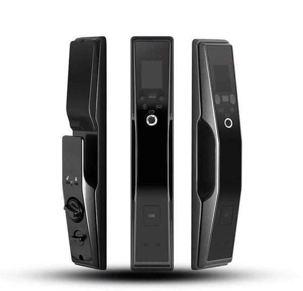 best selling Rongshenda FX90 fingerprint face recognition door lock automatic household anti-theft door lock password brush face recognition face lock