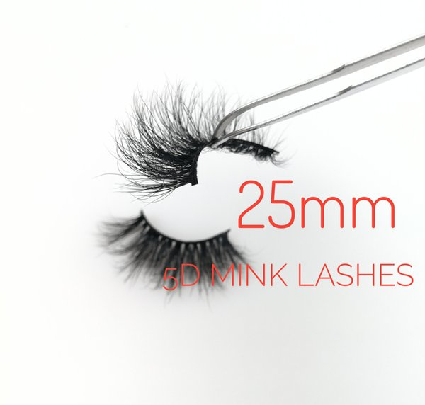 HOT-SELLER 5D 25mm Long Individual Sexy False Eyelashes Soft Natural Thick Cross Mink Lashes Strip Handmade Lashes Extension Beauty Tools