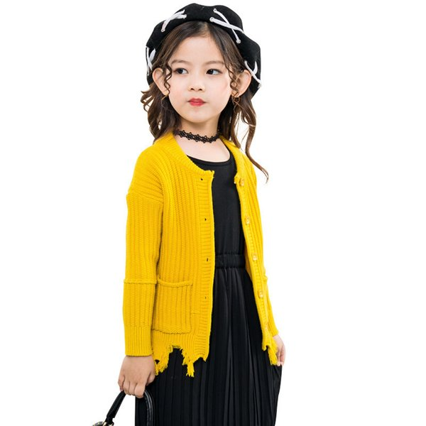 Casual Kids Clothes Sweater For Girls Autumn Winter Girls Sweater Long Sleeve Knitting Sweater Coats Clothing Children Cardigan
