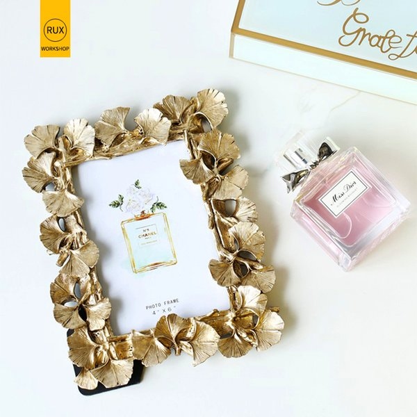 2019 new European leaves Photo frame Creative home decoration Wedding couple recommended picture frame Gold silver SH190918