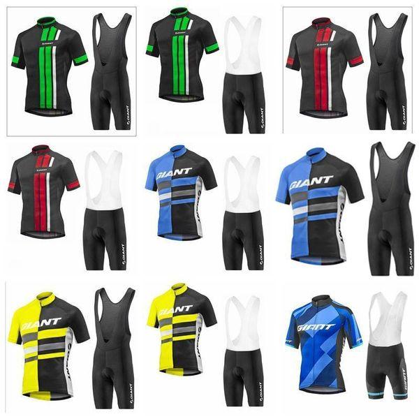 Equipo de ciclo gigante de manga corta Jersey (BIB) cortocircuito los sistemas 2019 nuevas llegadas ropa de la bicicleta de lycra ropa de verano K122420