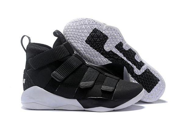 2019 nuevo LeBron Soldier XI 11 Azul marino hombres / mujeres Zapatillas de baloncesto Envío de la gota Zapatillas de baloncesto para hombre famosas