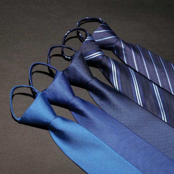Zougb Üreticileri toptan özel İpli kravat 7 cm iş uygun zip kravat erkek kolay çekin