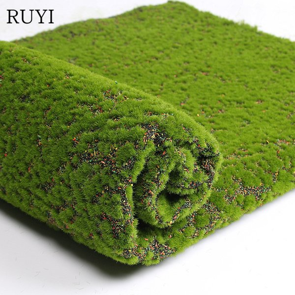 Decorations Artificial Plants Simulation Pearl Cotton Moss Turf Artificial Flowers Green Plant Scene Window Display Restaurant Mall Store...