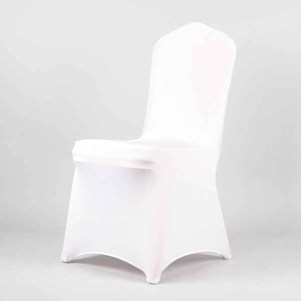 Admirable White Wedding Spandex Chair Cover Stretch Cheap Universal Lycra Chair Covers Christmas Party Banquet Hotel Decor Wedding Chair Covers To Buy Kitchen Caraccident5 Cool Chair Designs And Ideas Caraccident5Info
