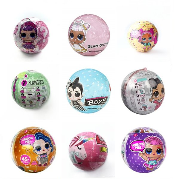 top popular 18style unicorn Bling GLAM glitter pet Confetti Pop Series 10cm doll Bffs Limited Edition doll Action figures Girls' Christmas gift dhl free 2020