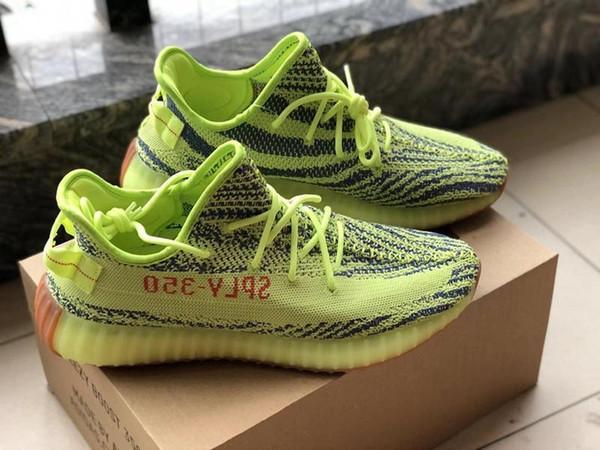2019 Yeni 350 Erkekler Kadınlar Ayakkabı Koşu Statik Siyah Bred Krem Beyaz Susam Kanye West V2 Spor Spor ayakkabılaryeezy350 W1120E