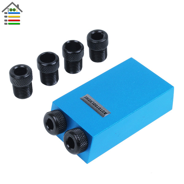 Cheap Power Tool Accessories Woodworking Pocket Hole Jig Kit 6/8/10mm Step Drill Guide Sleeve For Kreg Pilot Angle 15 Degree Holes Wood
