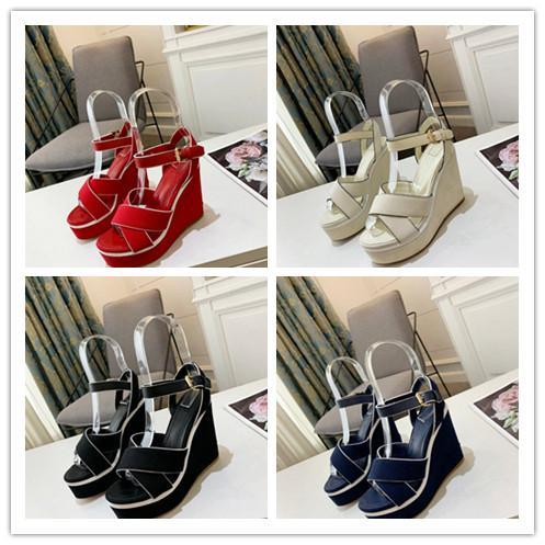 chaussures de marque de maille respirante pour les femmes portent des talons hauts évidé sandales Square - semelles en cuir pantoufles de luxe facturé Taille 34-41