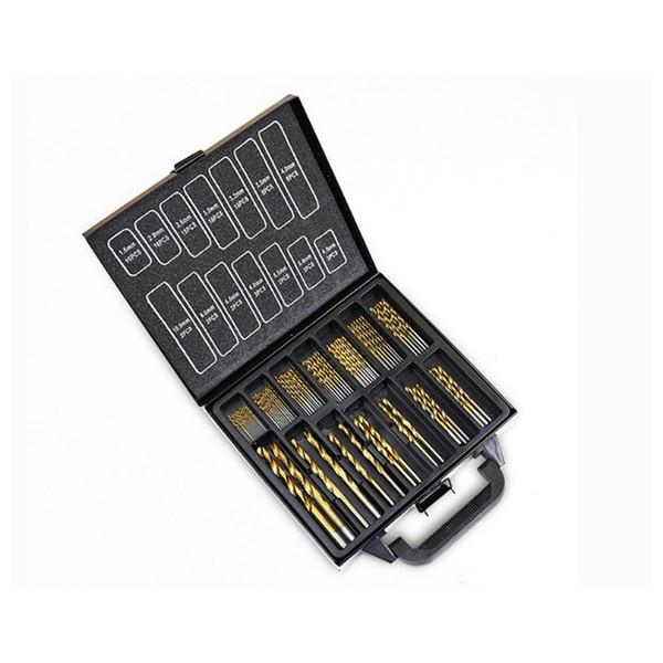 UK 99pcs Drill Bits Titanium Coated HSS Metal High-Speed Steel Set Tool 1.5-10mm