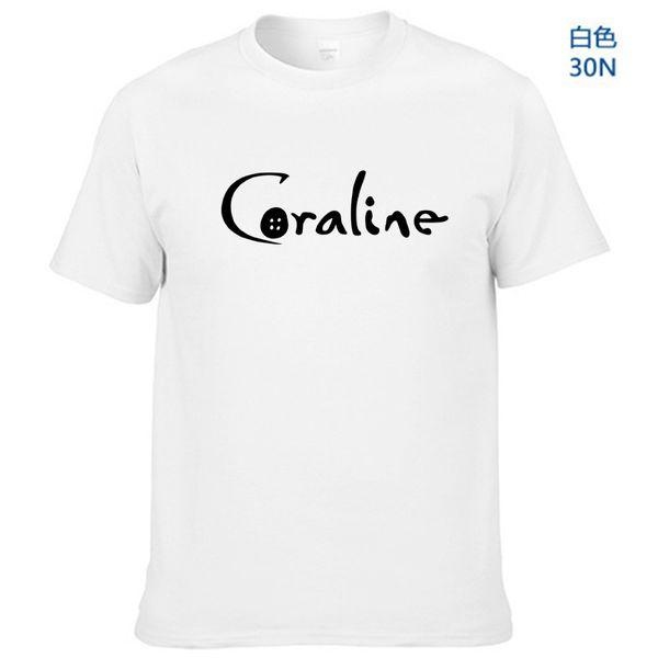 2019 Nueva camiseta de hombre con estampado de Coraline Algodón Casual camiseta divertida para hombre Top Tee Hipster Tumblr Drop Ship