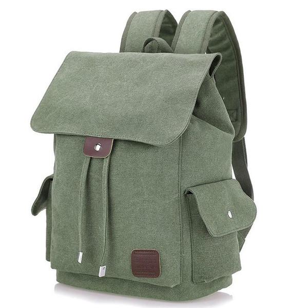 Sac à dos en toile Sacs à dos scolaires imperméables Sac d'ordinateur portable 15 pouces Sac à bandoulière