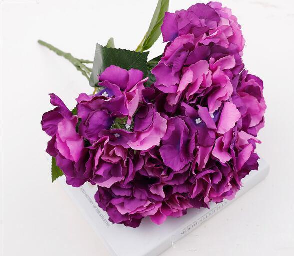 Matrimonio Azzurro Ortensia : Acquista cinque foglie di ortensia simulate fiori all ingrosso