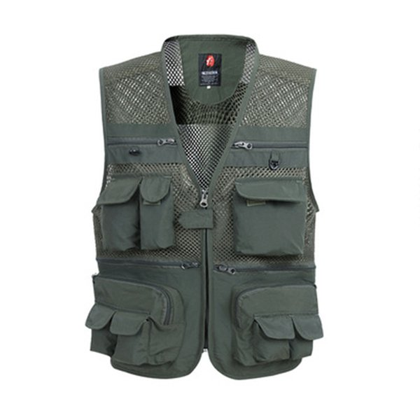 NEW Men/'s Multi Pocket Camera Outdoor Travelers Fishing Working Photography Vest