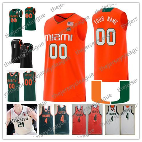 miami hurricanes 2019 custom any name any number stitched green ...