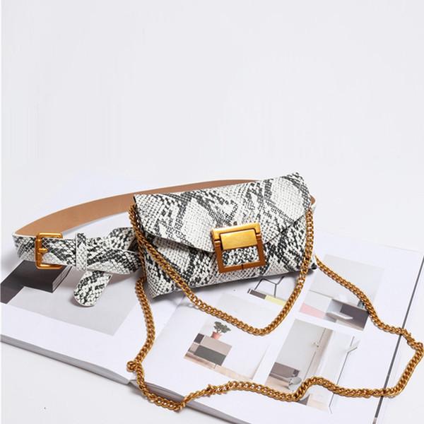 Women Waist Bag Leather Female Belt Chain Bags Fashion Fanny Pack Waist Belt Bag Female Hip Bum Pouch Phone Bags