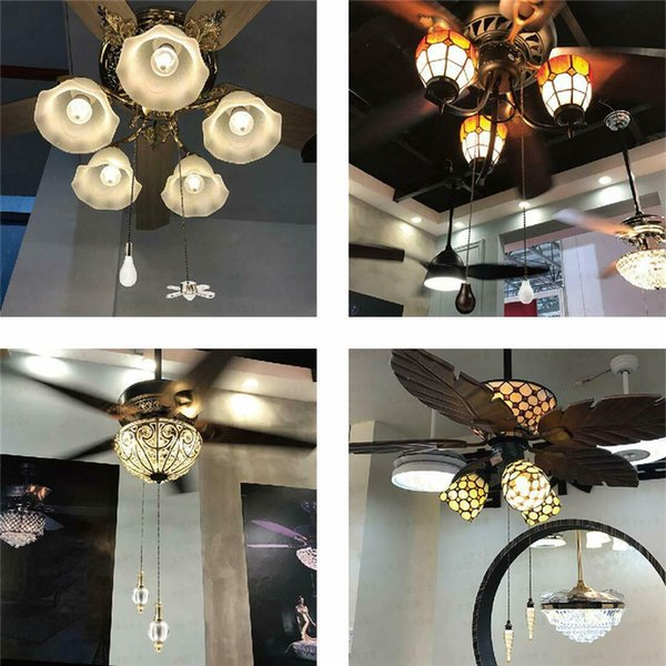 Saim Ceiling Fan Pull Chain Decorative Metal Fan And Glass Bulb Shaped 12 Inch Decor Pullchains Celling Fans Pendant Garden Novelty Items Gift And