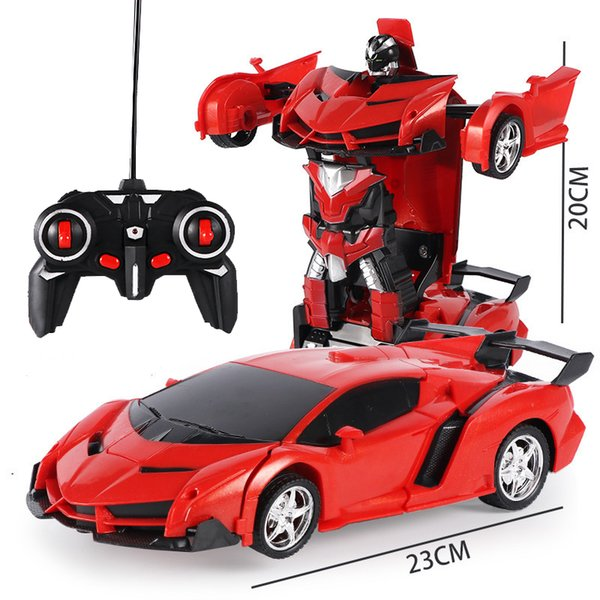 2In1 RC Car Robot Deformation RC Sports Car Truck Vehicle Transformation Robots Kids Toy For Children With Gift Box USB Charging