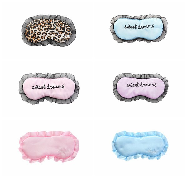 Lace Sleeping Masks Maschere per gli occhi Shade Eyepatch Soft Lace Ricamato Seamless Cover Sweet Dreams per i viaggi Relax Sleeping RRA394