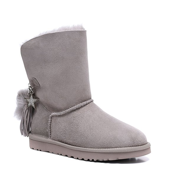 Free shipping Classic Genuine leather bailey bow snow boots 100% Wool Women Boots Warm winter shoes for woman Australia snow boots 01