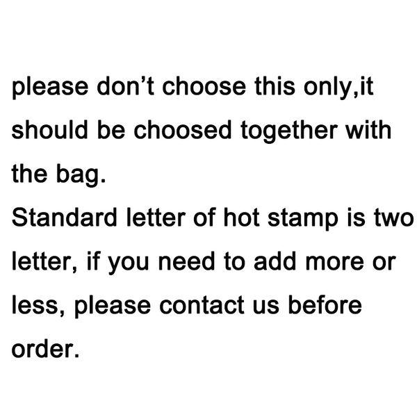 maßgeschneiderter Hot Stempel mit zwei Buchstaben