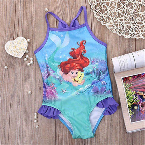 Cartoon Bathing suit girl baby swimwear Girl Baby swimming suit one piece kids set child Hot kids set for children clothes