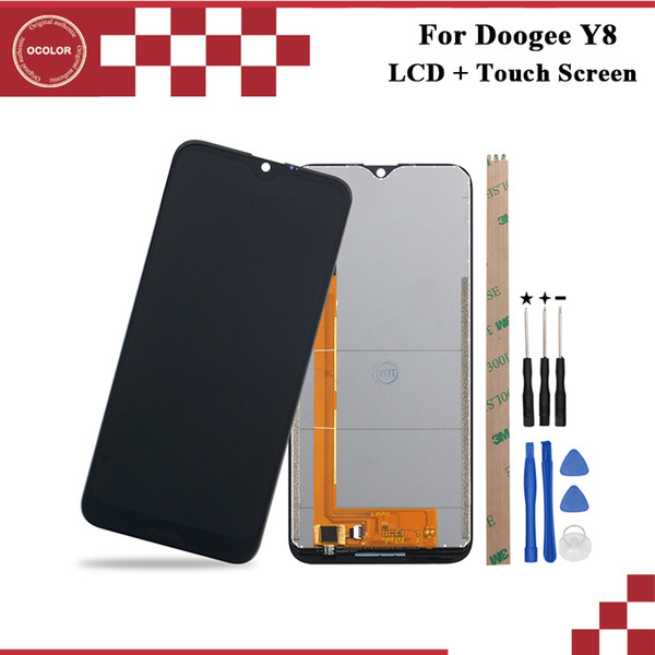 ocolor For Doogee Y8 LCD Display and Touch Screen 6.1 inch Mobile Phone Accessories For Doogee Y8 With Tools And Adhesive