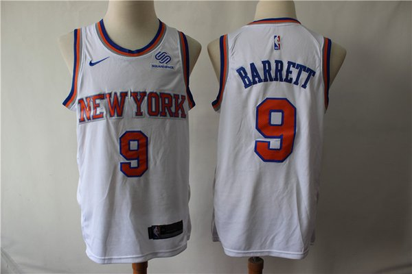 half off 9b0be ff8db 2019 2020 New Mens Knicks 9 RJ Barrett Swingman Jersey Authentic Embroidery  New York 6 Kristaps Porzingis Knicks Basketball Jersey Stitched From ...