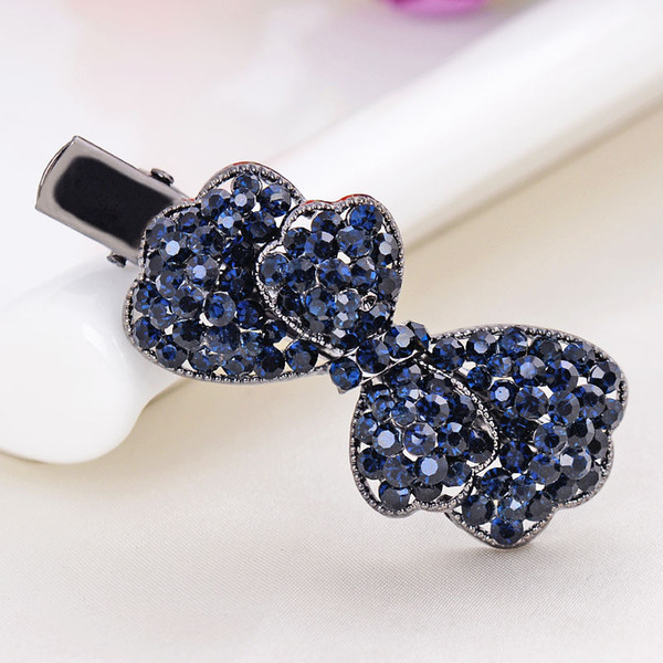 Hot Fashion Jewelry Women's Rhinstone Bowknot Hairpin Hair Clip Bobby Pin Lady Butterfly Barrette Hair Accessories S477
