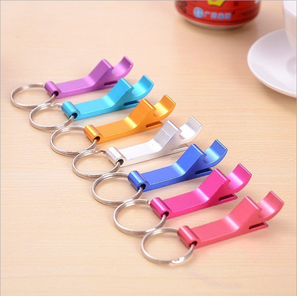 best selling Proable key chain opener metal aluminum alloy keychain ring beer bottle opener can openers tool gear beverage