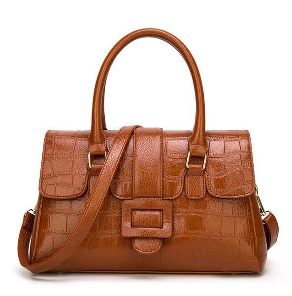 Новый высокое качество искусственная кожа мода сумки плеча Crossbody сумка Крокодил сплошной цвет ретро сумка простые женщины сумки Оптовая