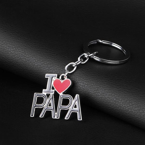 Ti amo mamma mamma papà portachiavi anelli lettera padre madre cuore rosso fascino gioielli di moda