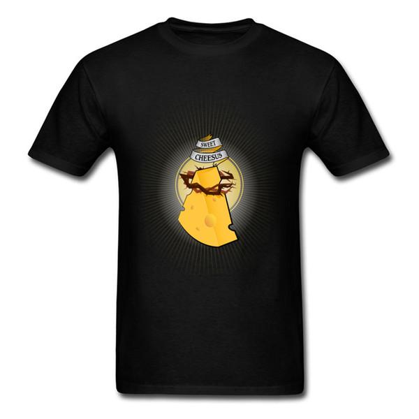 Queijo doce Dos Homens de Impressão Dos Desenhos Animados T-shirt Engraçado de Manga Curta T-shirt Da Festa de Aniversário de Algodão O-pescoço Top Simples Em Desconto