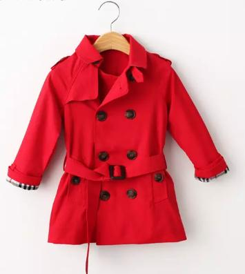best selling hot Spring trench coat for girls clothes children clothing cotton double-breasted jacket kids clothes windbreaker girls Coat Ki
