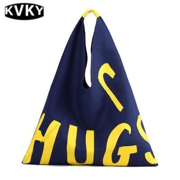 Холст сумки новый дикий прилив классный стиль дамская сумочка случайные письма печати большой емкости женская сумка # 236369