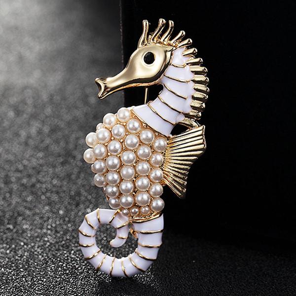 Jóias ea cavalo broche Sea Horse Broches de casamento Broach Hijab pinos Broches grátis Vintage Broche Bouquet Relógio Feminino Esmalte De Unha ...