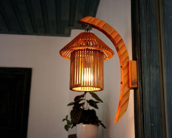 Compre Romántico Sudoriental Para Lámparas De Cabaña De Pared Hechas A Asia Vestíbulo Bambú E27 Nostálgica A Mano Pasilloporchbar Luz Rural LLFA LED DIeEH2Y9W