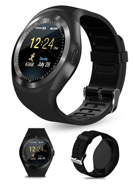 Y1 smart watchs for android smartwatch Samsung cell Phone watch bluetooth for apple iphone with retail package