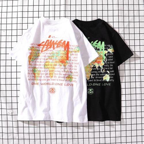 Mens Designer T Shirt World Map Lettera Stampa Luxury Shirt Estate manica corta Cotone di alta qualità Casual Street Fashion Top Sudore Uomo Polo