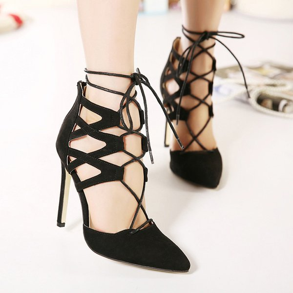 Womens Ankle Strap High Heel Sandal Shoes Lady High Heels 11CM Party Sandals Ladies Sandalias Mujer Platform Pumps Woman