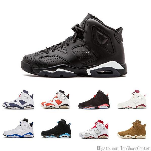 6 s Carmine Basketbol Ayakkabıları Klasik Siyah Mavi Beyaz Kızılötesi Düşük Krom Kadın Erkek Moda Lüks Erkek Kadın Tasarımcı Sandalet ayakkabı