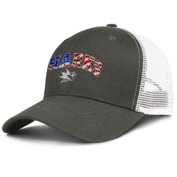 Popular Mesh Visor cap Men Women-San Jose Sharks usa flag designer hats snapback Adjustable Golf cap Outdoor