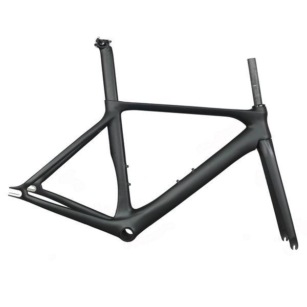 Carbon Track Frame Carbon Fiber Fixed Gear bike frame Carbon Racing Tracking bike Frameset 505/535/565mm with fork seatpost