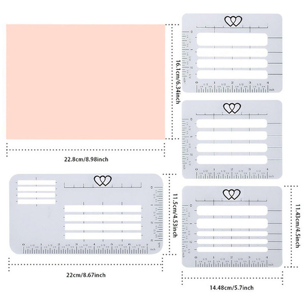 Letter Addressing Stencil.Envelope Craft Notebook Addressing Guide Stencil Set Postcards Multi Use Transparent Letter Diary Templates Rulers Greeting Cards Greeting Cards