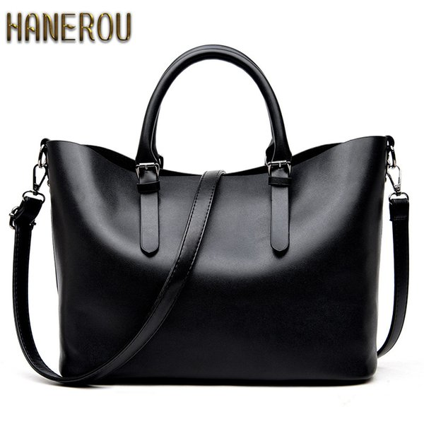 Bolso Mujer Negro 2019 Fashion Hobos Women Bag Ladies Brand Leather Handbags Spring Casual Tote Bag Big Shoulder Bags For Woman Y190124