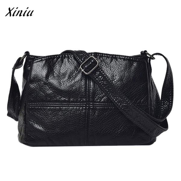 xiniu Fashion Lovely Design Vintage Luxury Handbags Women Bags Designer Pure color Leather Crossbody Bags Messenger Shoulder Bag