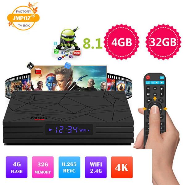 Fábrica M9S Y2 OEM ODM Android 8.1 caixa de tv Rockchip RK3328 quad core 4 GB / 32 GB 4 K HDR H265 wi-fi USB 3.0 IPTV Media Player set top box