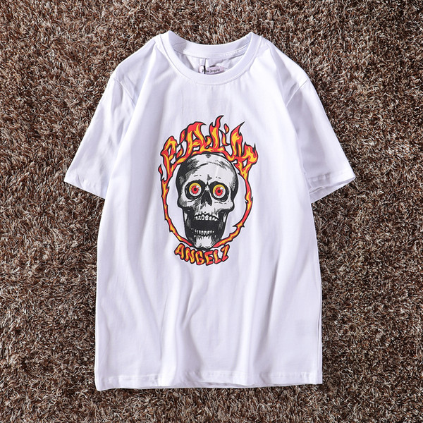 Palm Anagels 19SS Spring Summer T Shirt white Angel Flame Ghost Head Evil Spirit Knight Palm Anagels loose T-Shirts