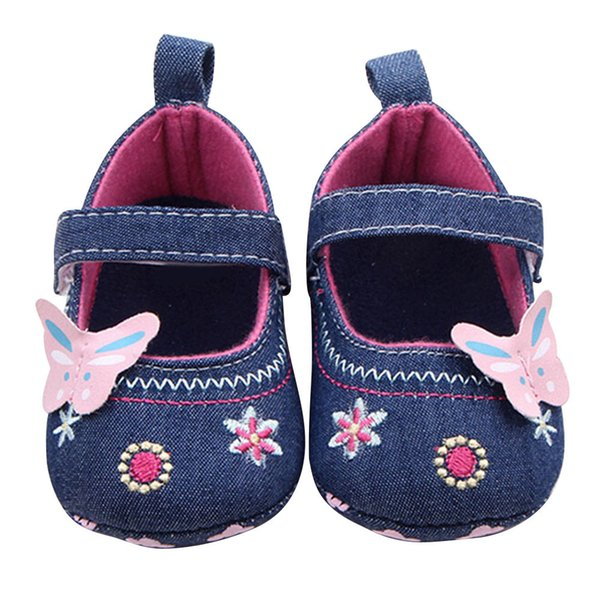 SAGACE Fashion Baby Girl Lovely Shoes Butterfly Soft Material Sole Toddler Shoes Cotton cloth Easy Wear Purple Blue 20190319